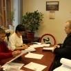 Приём депутатов Веры Лаптевой и Сергея Павлова в администрации посёлка Лосиного